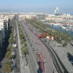 Looking over Barcellona